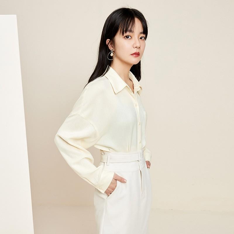 金苑韩版长袖衫2020春季新款设计感甜美学院风时尚衬衫女A20110510