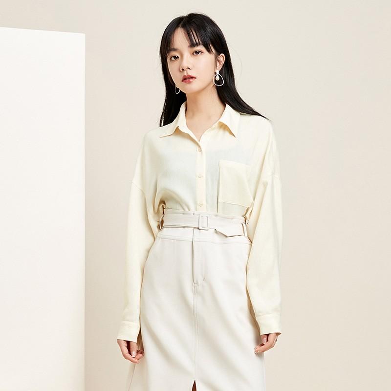 金苑韩版长袖衫2020春季新款设计感甜美学院风时尚衬衫女A2011058