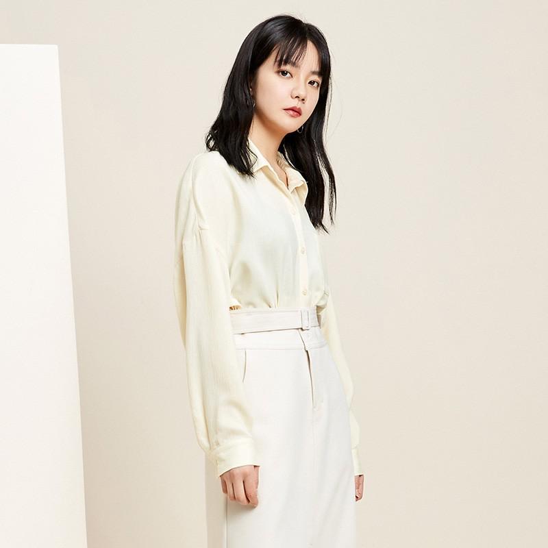 金苑韩版长袖衫2020春季新款设计感甜美学院风时尚衬衫女A2011059