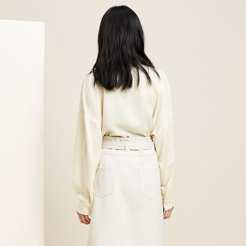 金苑韩版长袖衫2020春季新款设计感甜美学院风时尚衬衫女A20110511