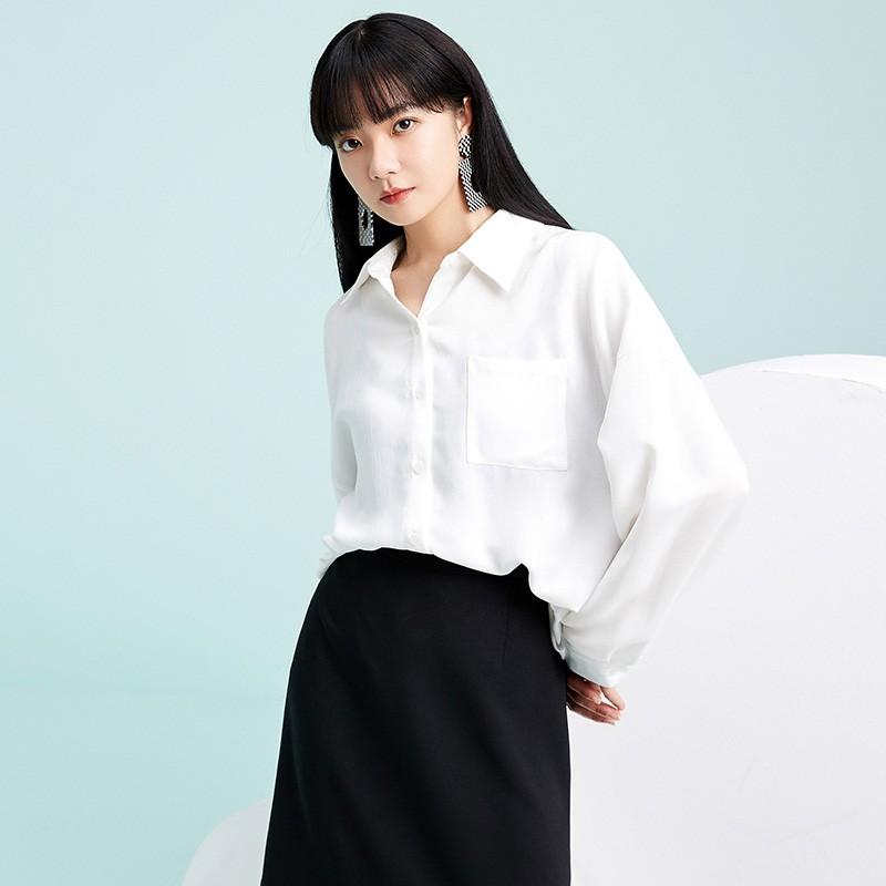 金苑韩版长袖衫2020春季新款设计感甜美学院风时尚衬衫女A2011052