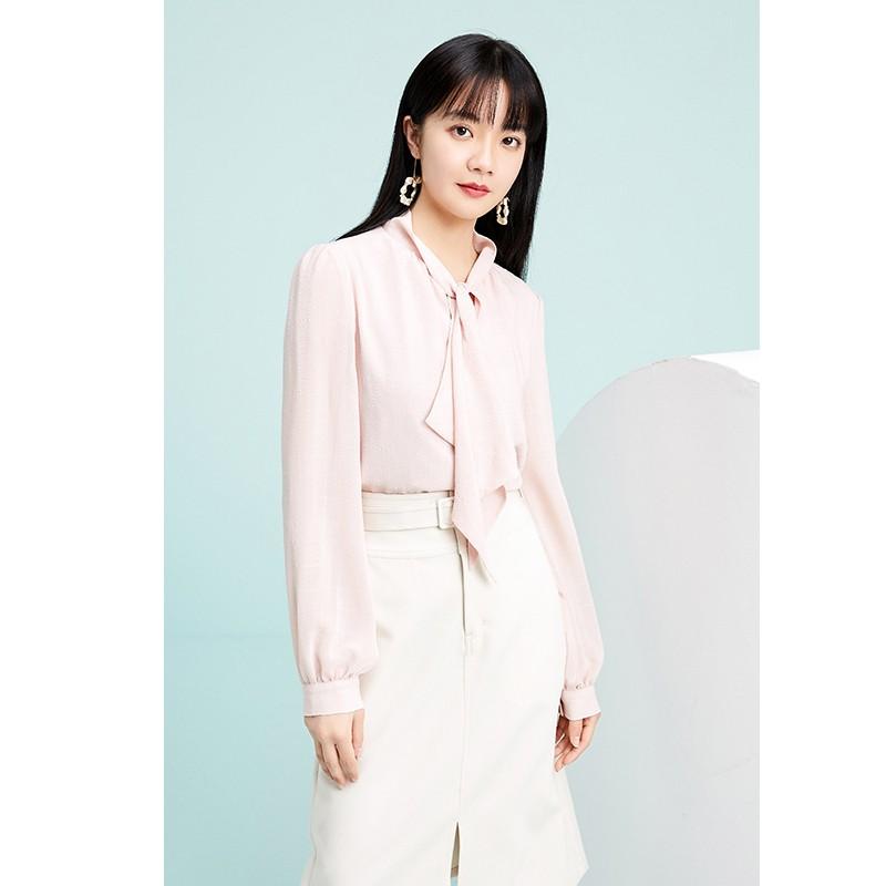 金苑气质雪纺衬衫女士2020春季新款长袖宽松休闲心机上衣A2011282