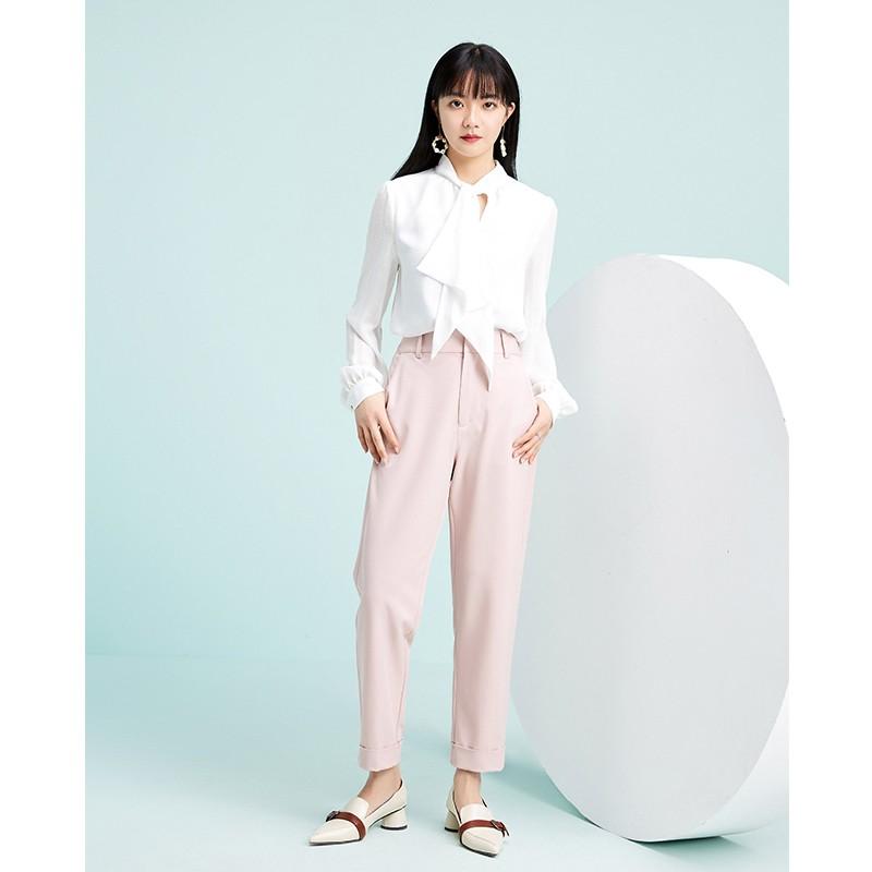 金苑气质雪纺衬衫女士2020春季新款长袖宽松休闲心机上衣A2011286