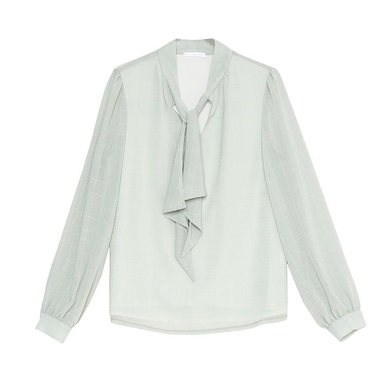 金苑气质雪纺衬衫女士2020春季新款长袖宽松休闲心机上衣A2011285