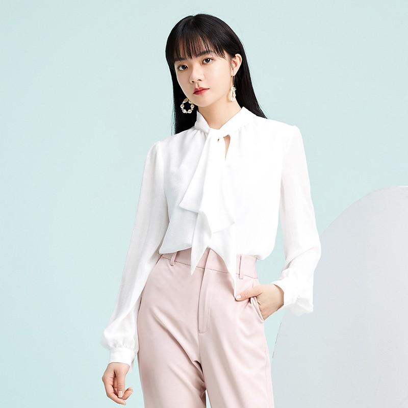 金苑气质雪纺衬衫女士2020春季新款长袖宽松休闲心机上衣A2011283