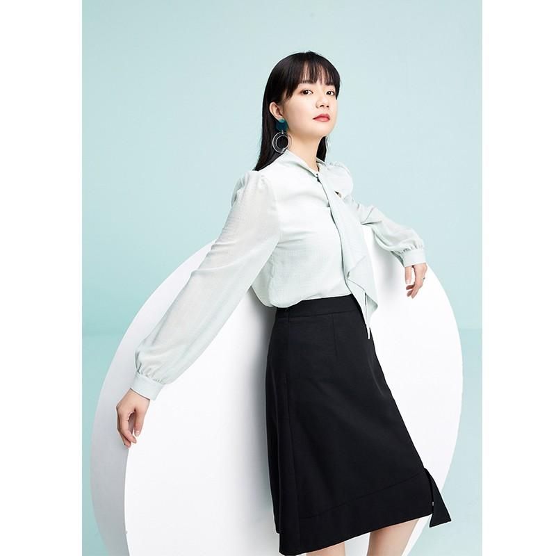 金苑气质雪纺衬衫女士2020春季新款长袖宽松休闲心机上衣A2011284