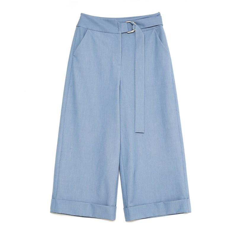 金苑阔腿裤女2020春新款韩版裤子纯色宽松休闲裤女士长裤C2011025
