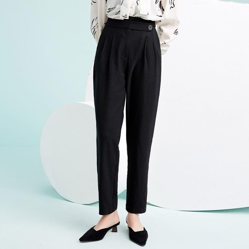金苑韩版百搭直筒裤显瘦休闲阔腿长裤2020年春季新款女装C2011036