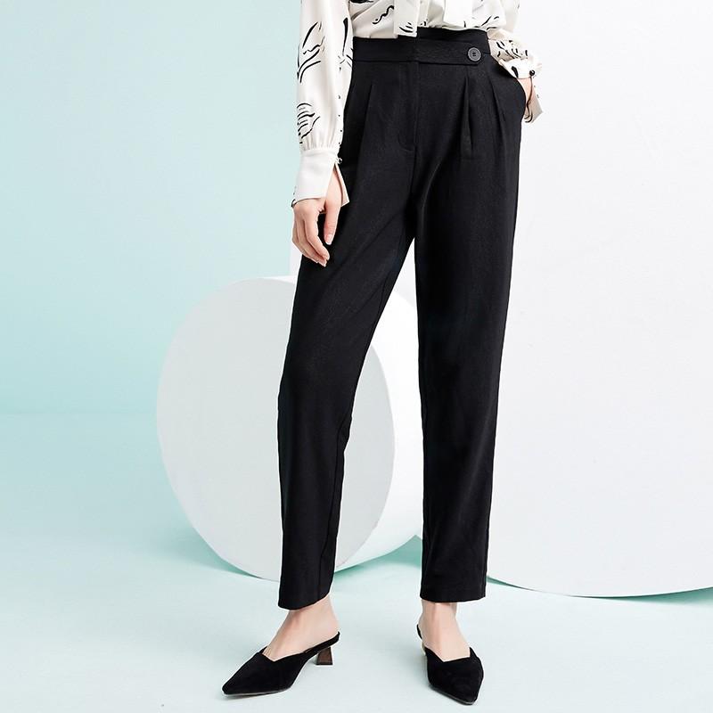 金苑韩版百搭直筒裤显瘦休闲阔腿长裤2020年春季新款女装C2011032