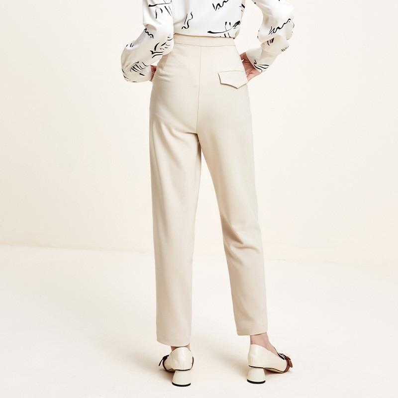 金苑韩版百搭直筒裤显瘦休闲阔腿长裤2020年春季新款女装C20110310