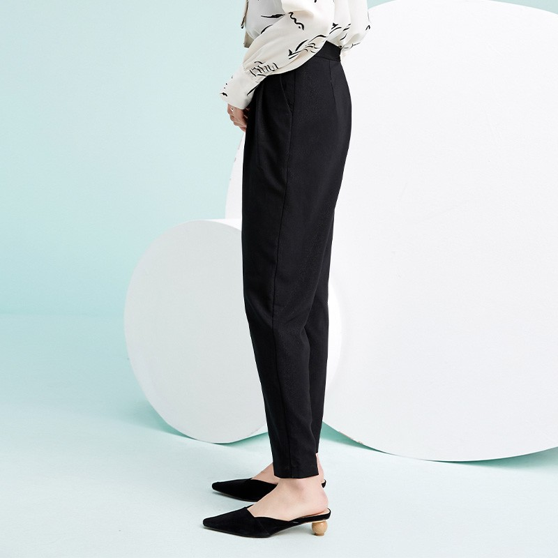 金苑韩版百搭直筒裤显瘦休闲阔腿长裤2020年春季新款女装C2011033
