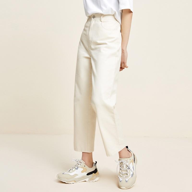 金苑百搭纯色休闲裤韩版宽松直筒裤2020年春季新款女装C2011052