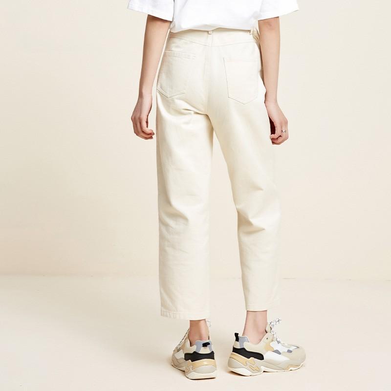 金苑百搭纯色休闲裤韩版宽松直筒裤2020年春季新款女装C2011054