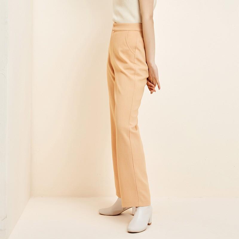 金苑韩版直筒裤修身显瘦百搭纯色休闲长裤2020春季新款女C2011163