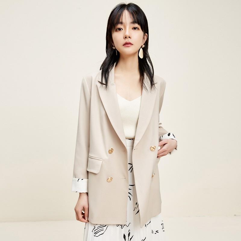 金苑西装外套女2020新款春装英伦风chic小西服女士小西装D2011012