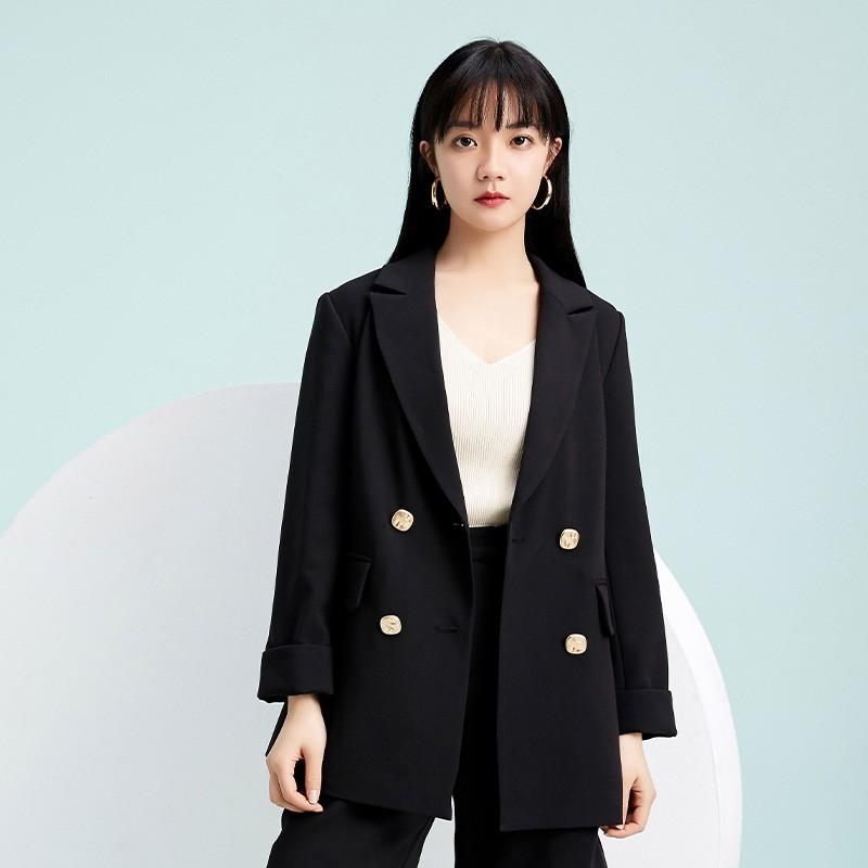 金苑西装外套女2020新款春装英伦风chic小西服女士小西装D20110112