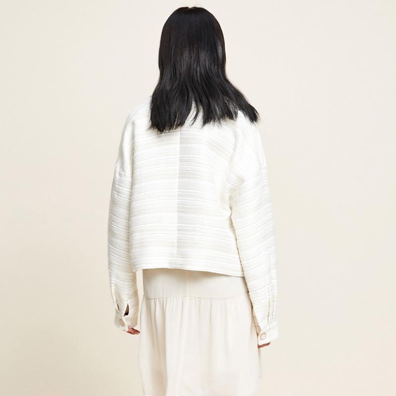 金苑2020新款春装韩版复古单排扣毛须边格子小香风外套女D2011054