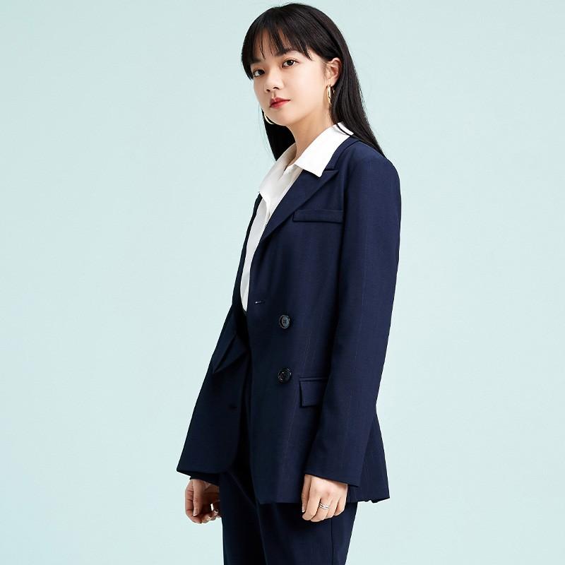 金苑不规则下摆西装外套设计感气质修身上衣2020春季女装D2011072