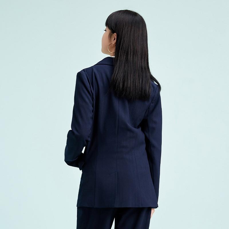 金苑不规则下摆西装外套设计感气质修身上衣2020春季女装D2011074