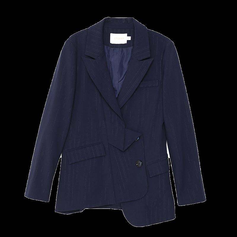 金苑不规则下摆西装外套设计感气质修身上衣2020春季女装D2011078