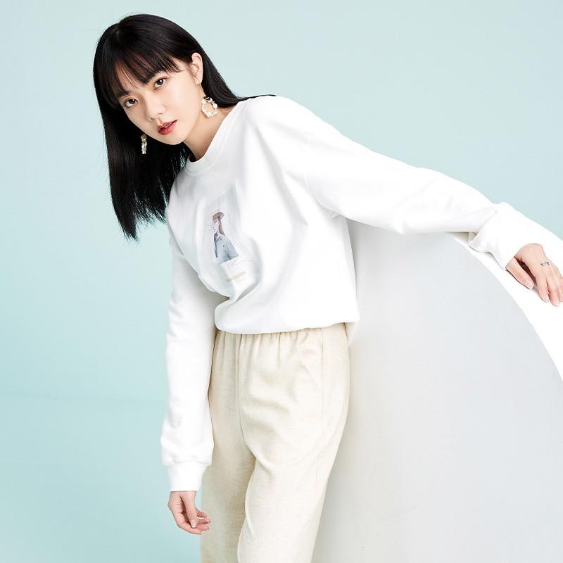 金苑卫衣2020新款女韩版潮宽松休闲慵懒风圆领女士上衣F2011013