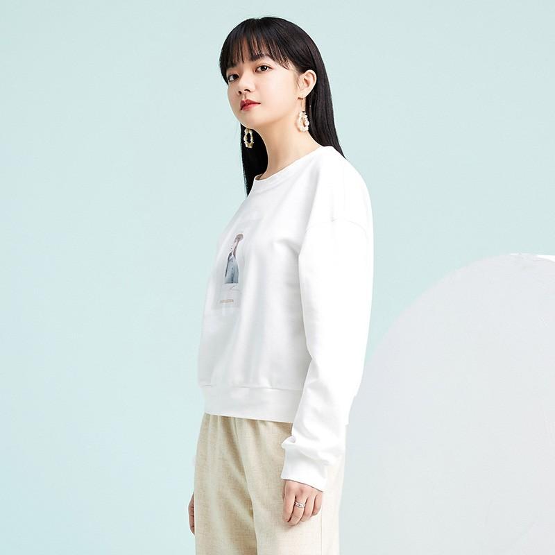 金苑卫衣2020新款女韩版潮宽松休闲慵懒风圆领女士上衣F2011012