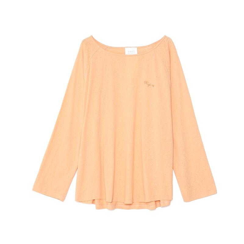 金苑韩版百搭T恤宽松长袖圆领纯色上衣2020春装新款女装F2011056