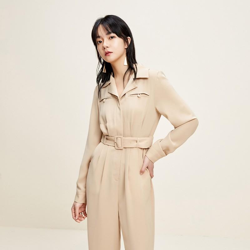 金苑连体裤女2020新款春装韩版高腰工装风时尚气质连身裤G2011016