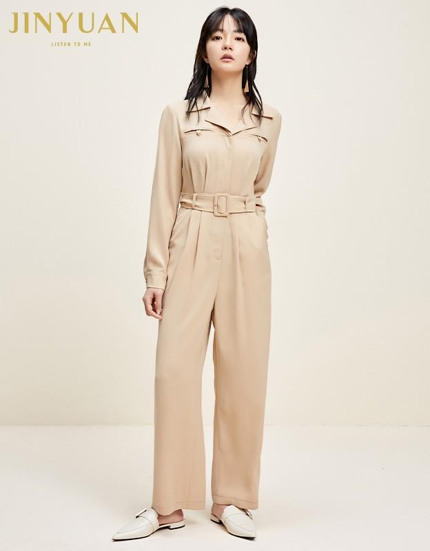 金苑连体裤女2020新款春装韩版高腰工装风时尚气质连身裤G2011017