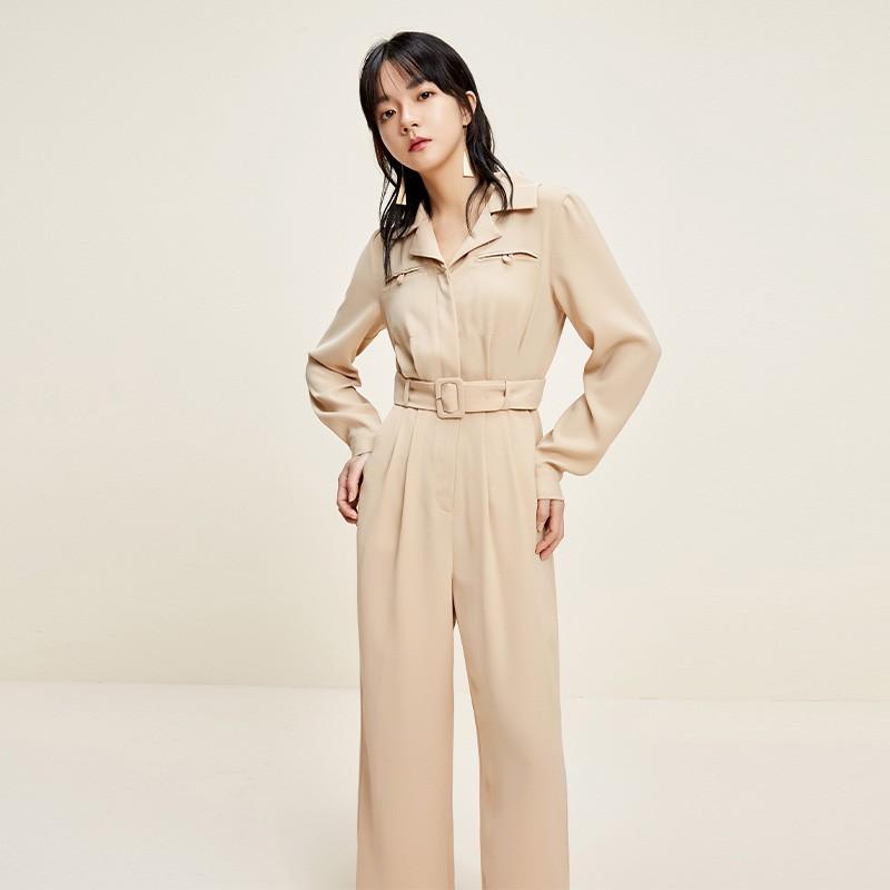 金苑连体裤女2020新款春装韩版高腰工装风时尚气质连身裤G2011012
