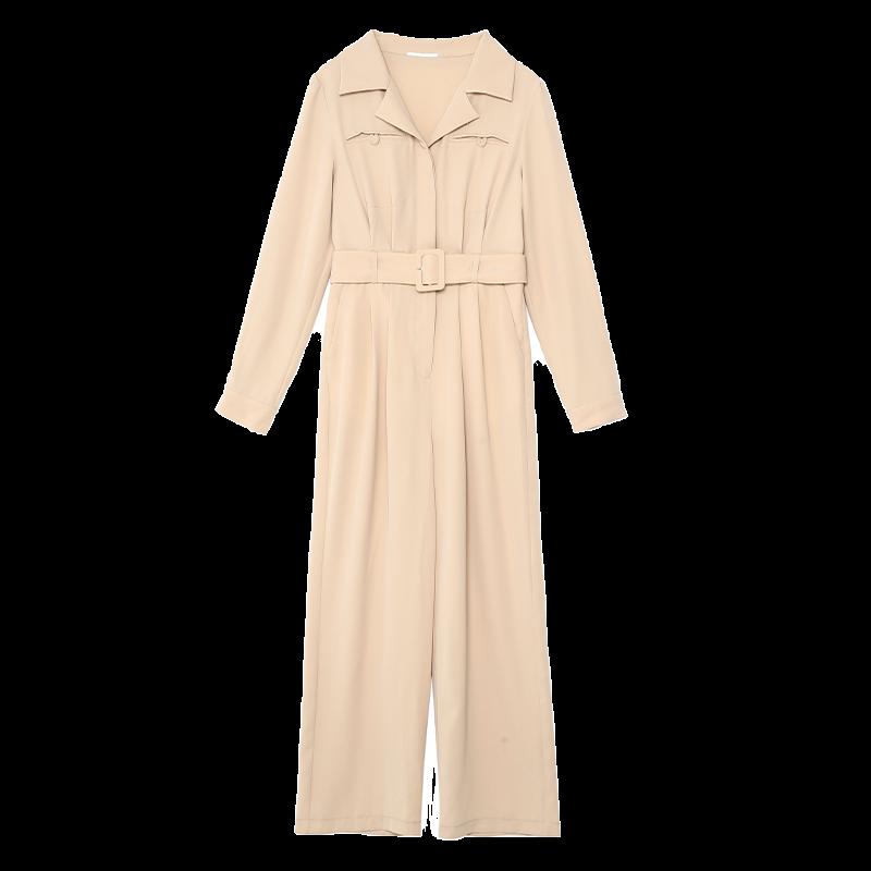 金苑连体裤女2020新款春装韩版高腰工装风时尚气质连身裤G2011018