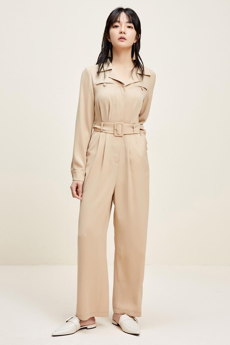 金苑连体裤女2020新款春装韩版高腰工装风时尚气质连身裤G2011019