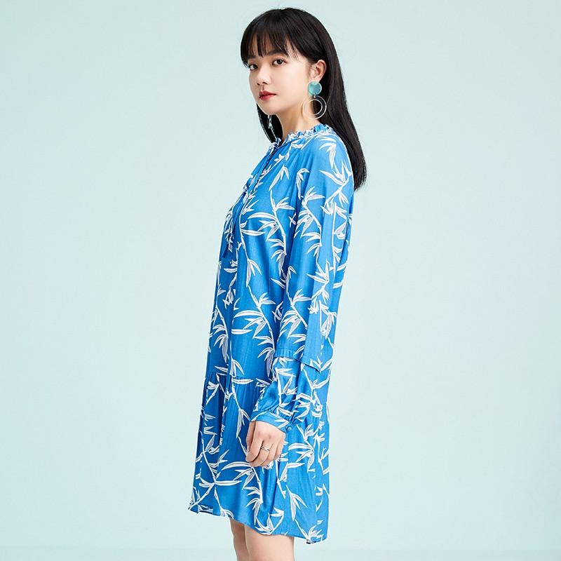 金苑雪纺连衣裙韩版显瘦春装2020新款女长袖气质中长裙女G2011054