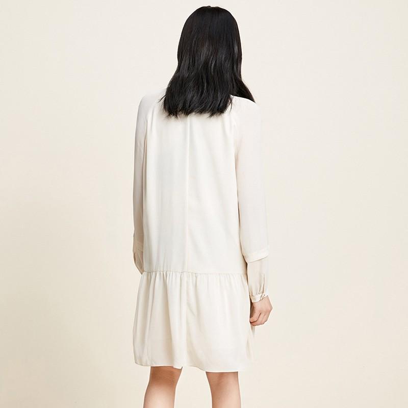 金苑雪纺连衣裙韩版显瘦春装2020新款女长袖气质中长裙女G20110511