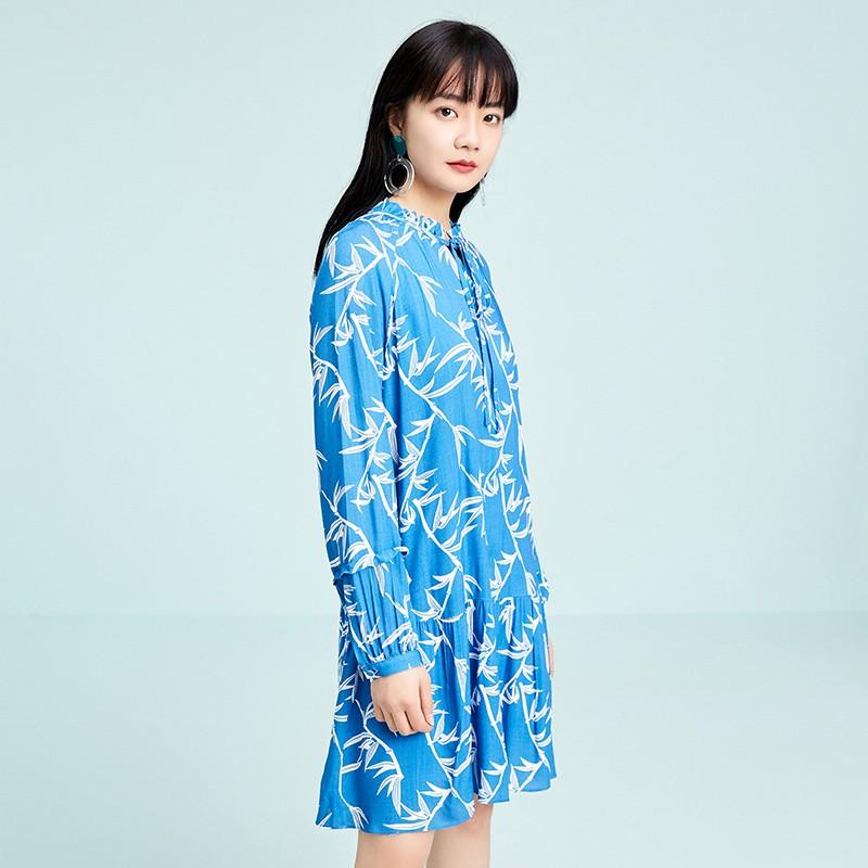 金苑雪纺连衣裙韩版显瘦春装2020新款女长袖气质中长裙女G2011053