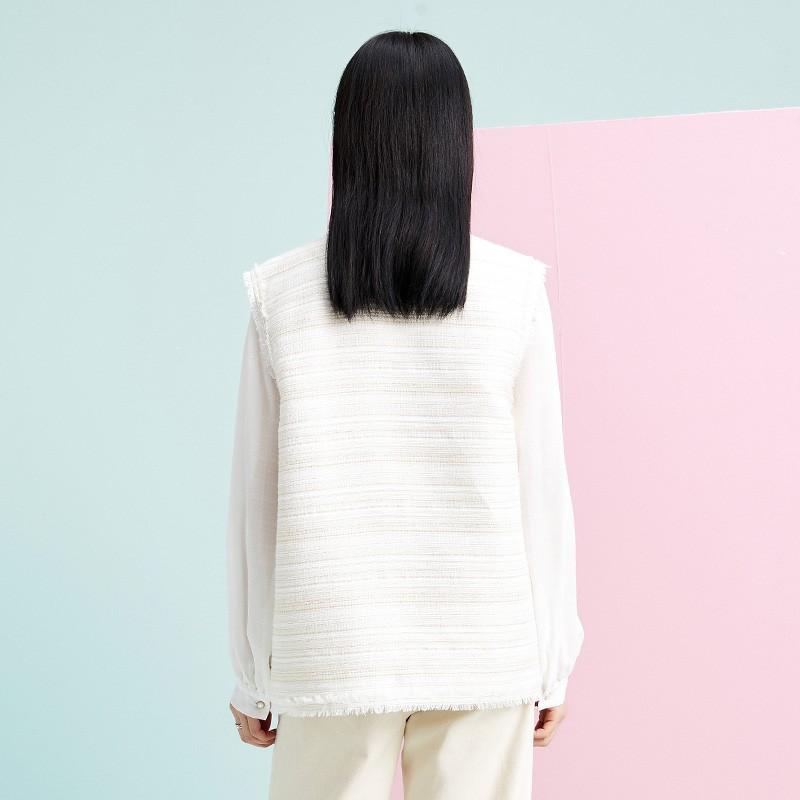 金苑外套女2020春新款韩版宽松格子小香风女士短外套马甲I20110210