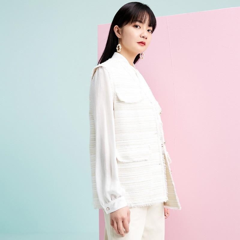 金苑外套女2020春新款韩版宽松格子小香风女士短外套马甲I2011029