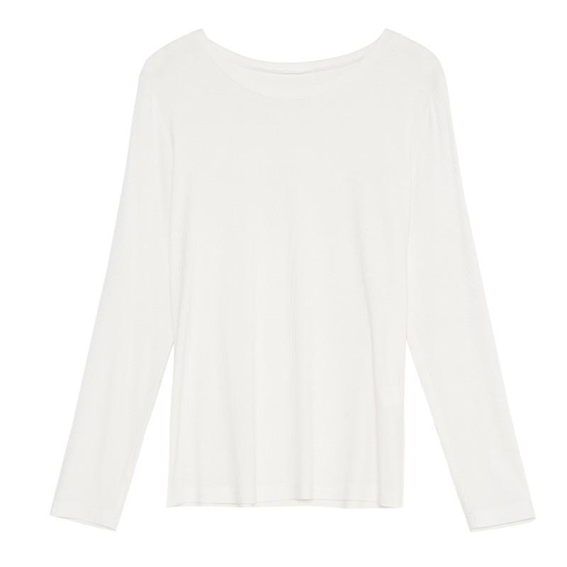 金苑2020春新款韩版圆领基础外穿上衣女款修身套头打底衫F2019015