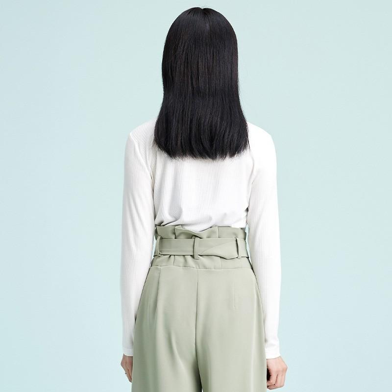 金苑2020春新款韩版圆领基础外穿上衣女款修身套头打底衫F2019014