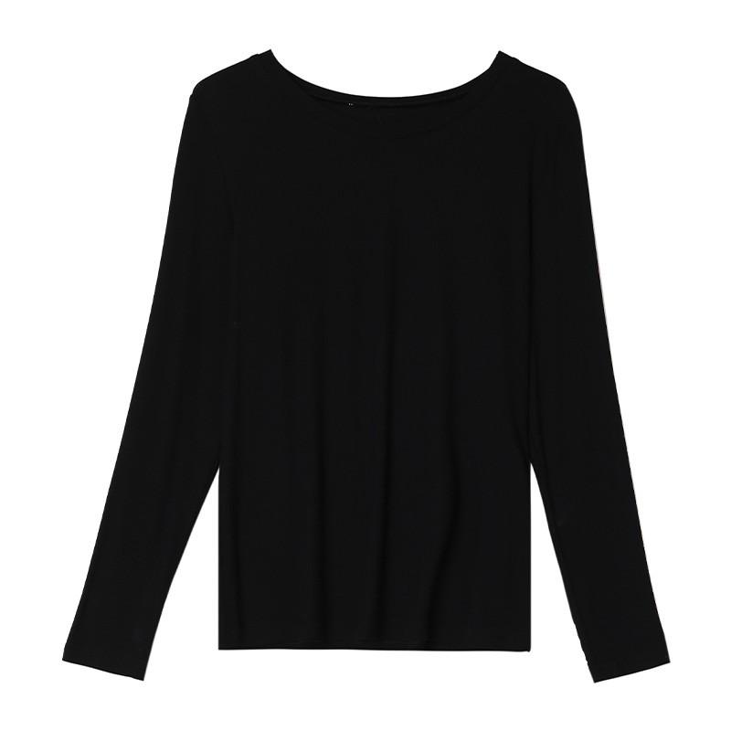 金苑2020春新款韩版圆领基础外穿上衣女款修身套头打底衫F20190111