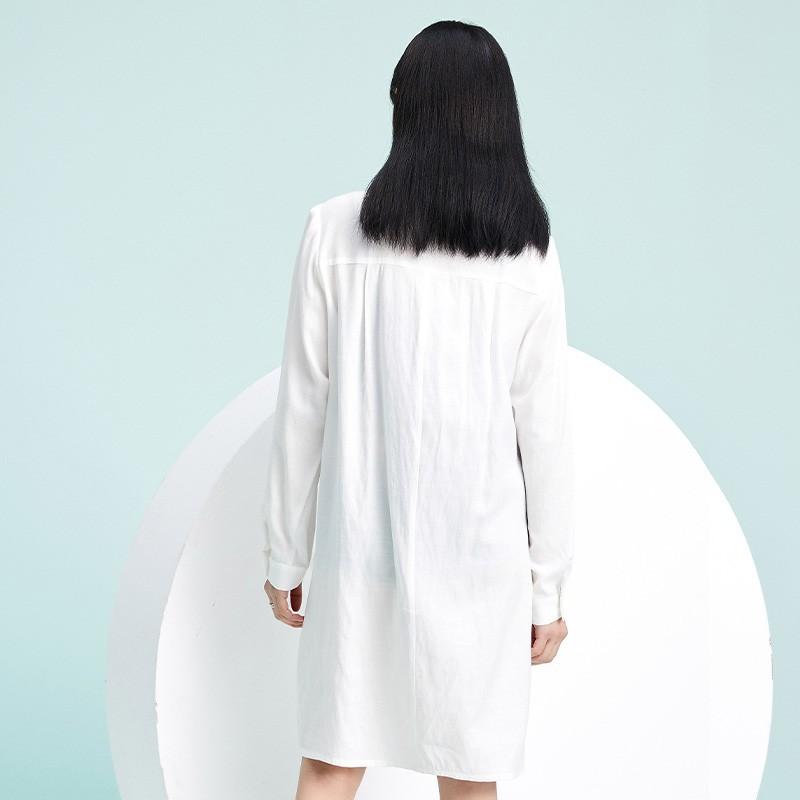 金苑2020春季新款设计师小心机百搭韩版时尚裙纯色连衣裙G2019014