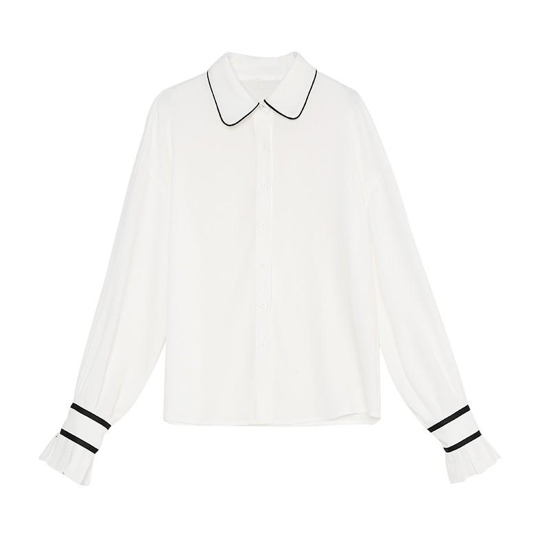 金苑雪纺衫2020新款小衫洋气时尚潮流女装气质雪纺女上衣A2019056