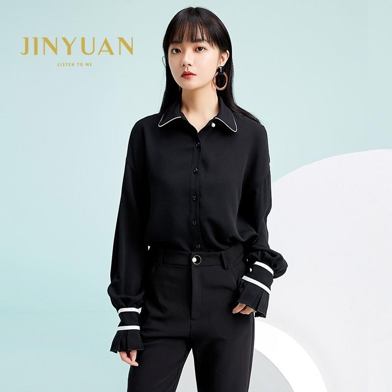 金苑雪纺衫2020新款小衫洋气时尚潮流女装气质雪纺女上衣A2019057