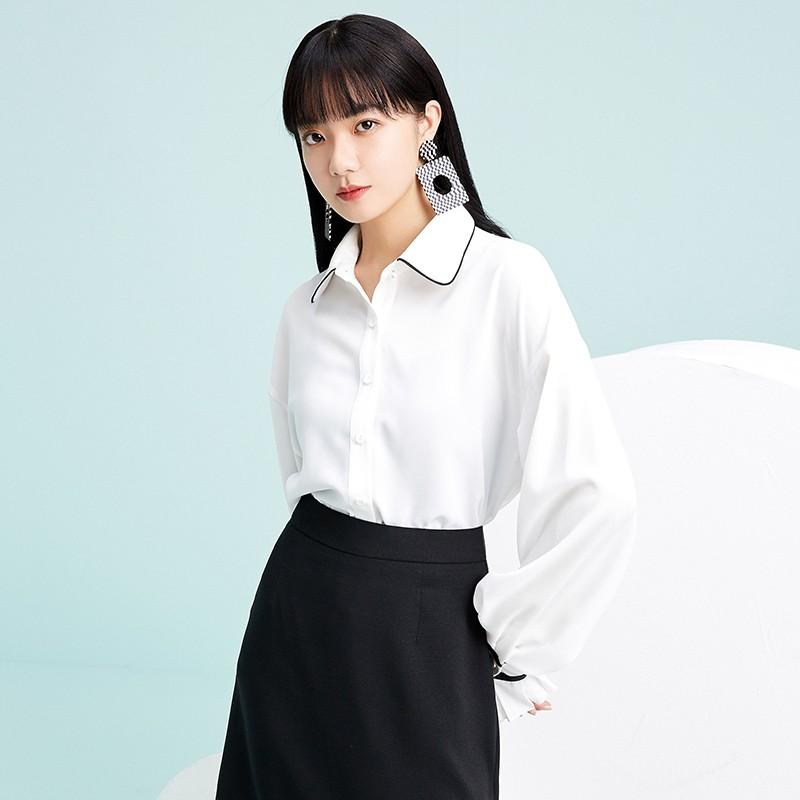 金苑雪纺衫2020新款小衫洋气时尚潮流女装气质雪纺女上衣A2019052