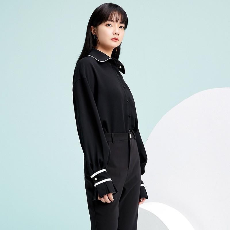 金苑雪纺衫2020新款小衫洋气时尚潮流女装气质雪纺女上衣A2019059