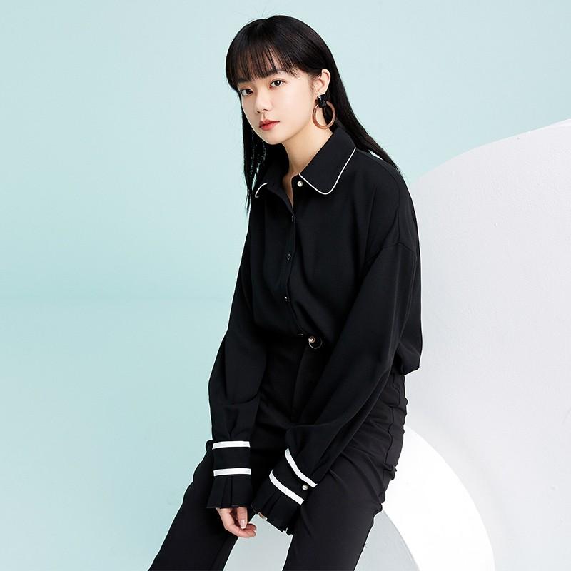 金苑雪纺衫2020新款小衫洋气时尚潮流女装气质雪纺女上衣A20190510