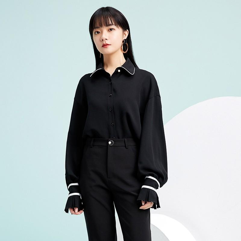 金苑雪纺衫2020新款小衫洋气时尚潮流女装气质雪纺女上衣A2019058