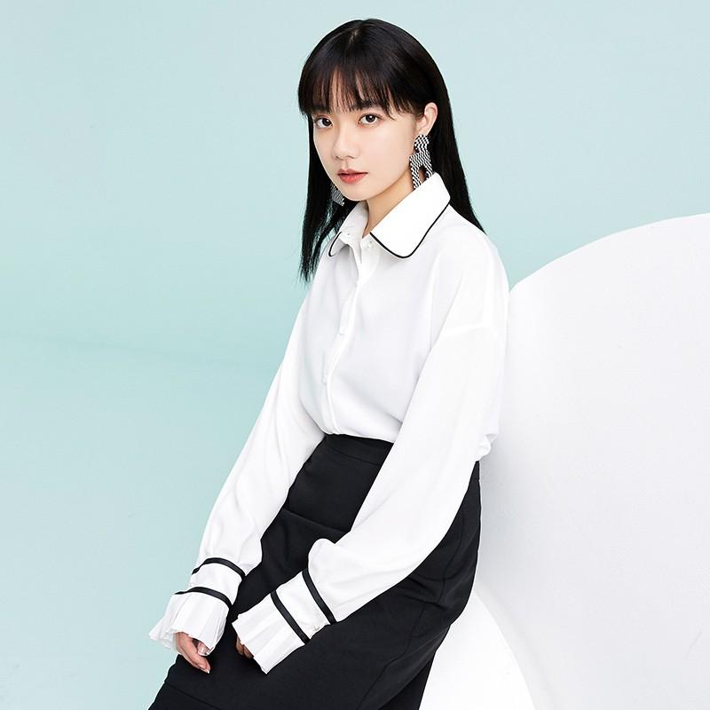 金苑雪纺衫2020新款小衫洋气时尚潮流女装气质雪纺女上衣A2019053