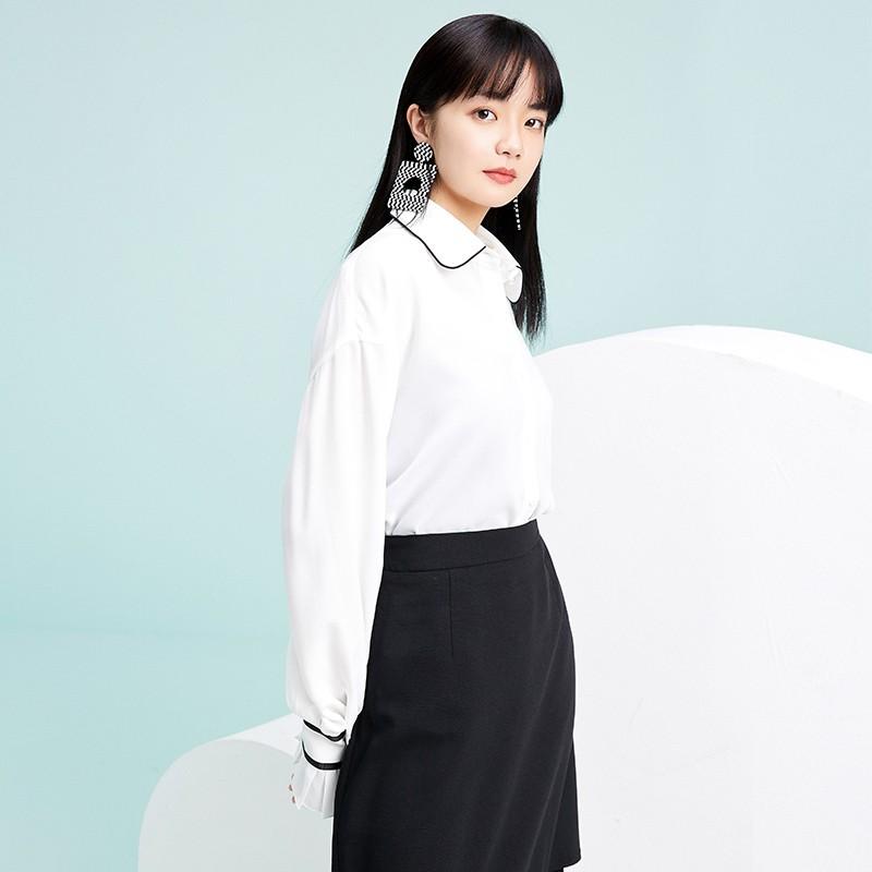 金苑雪纺衫2020新款小衫洋气时尚潮流女装气质雪纺女上衣A2019054