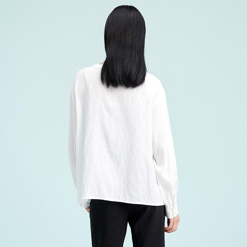金苑上衣女2020春新款长袖打底衫小衫文艺清新衬衫上衣女A2019065